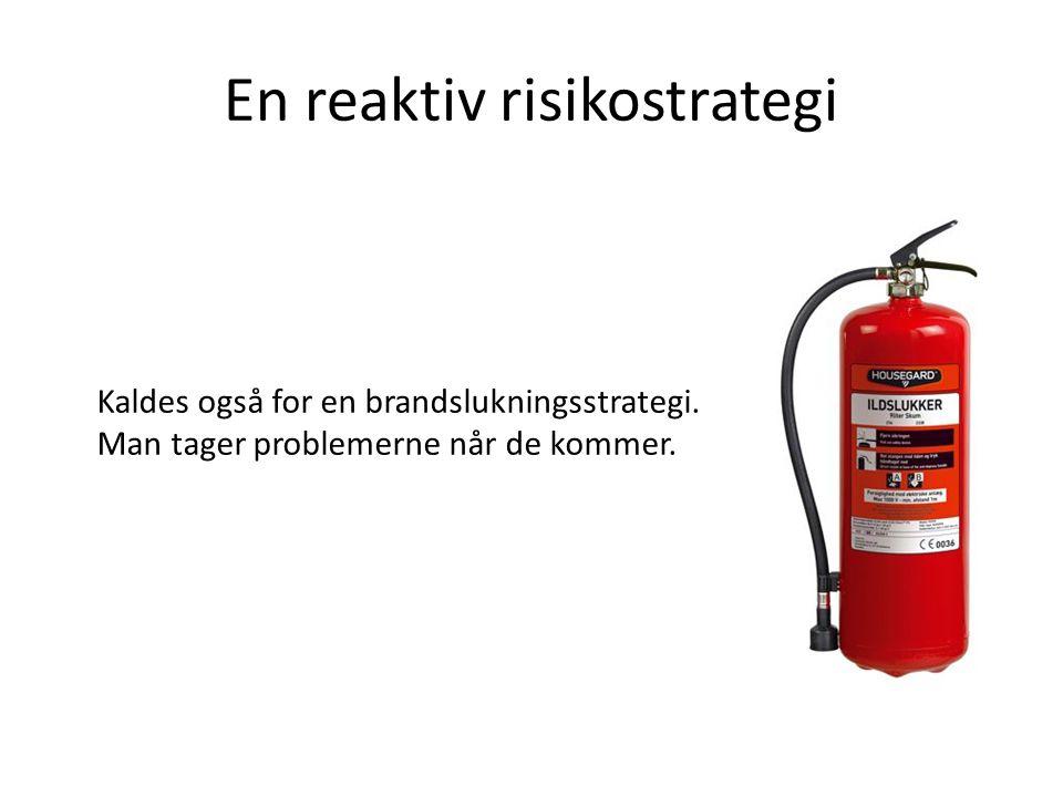 En reaktiv risikostrategi