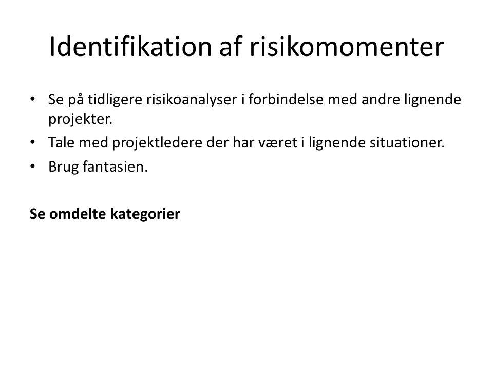 Identifikation af risikomomenter