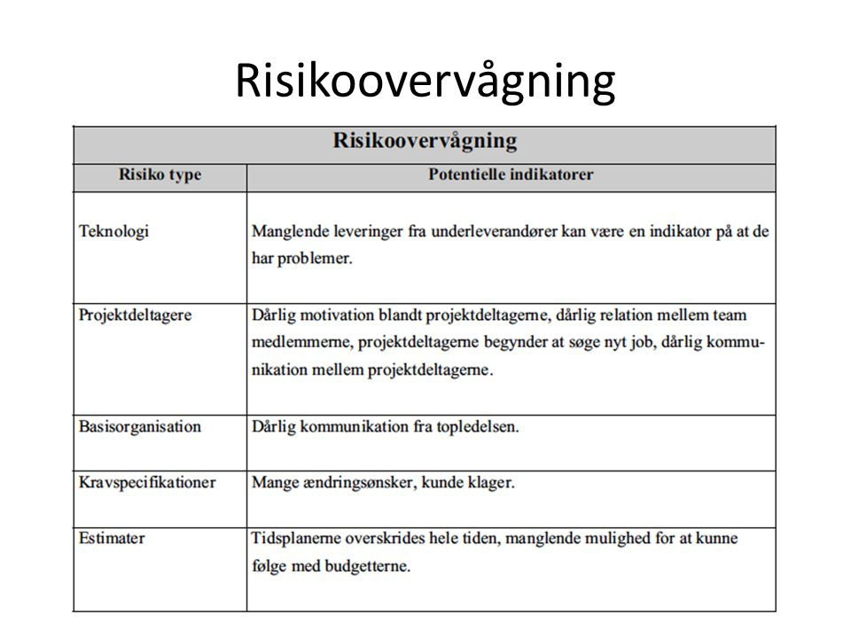 Risikoovervågning