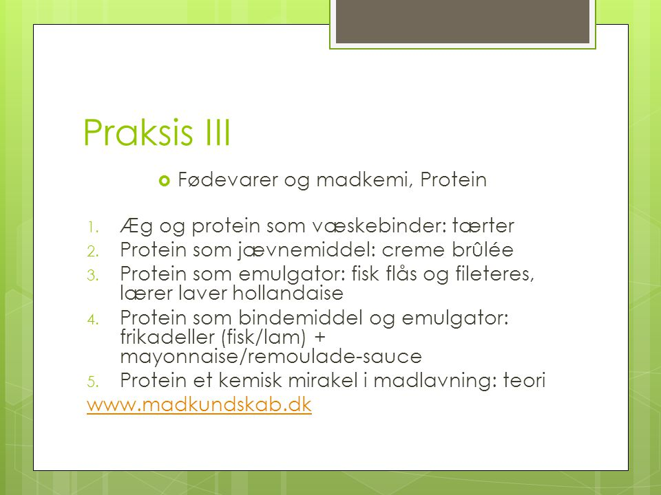 Fødevarer og madkemi, Protein