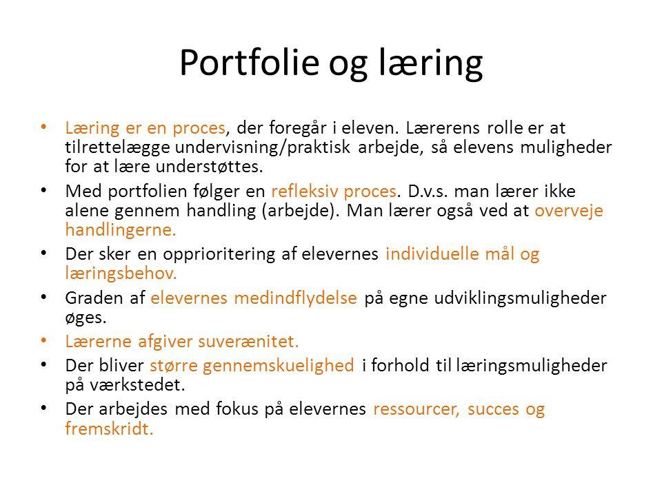 Portfolie og læring