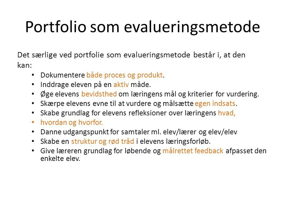 Portfolio som evalueringsmetode