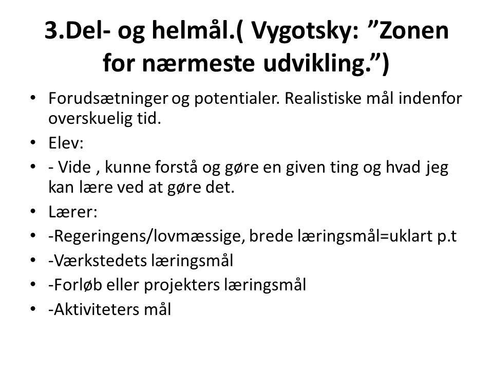 3.Del- og helmål.( Vygotsky: Zonen for nærmeste udvikling. )