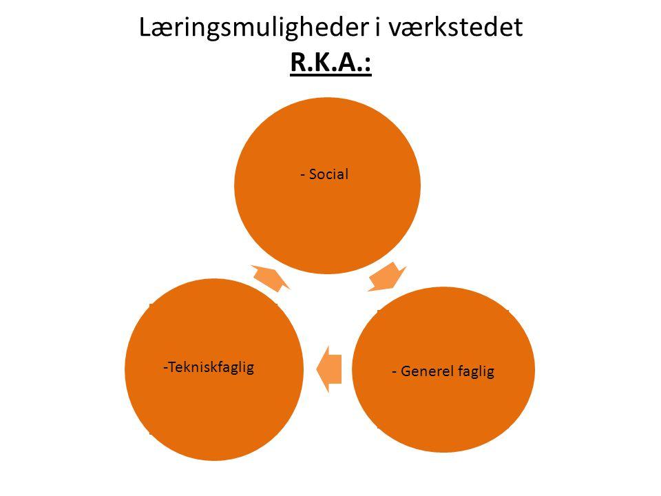 Læringsmuligheder i værkstedet R.K.A.: