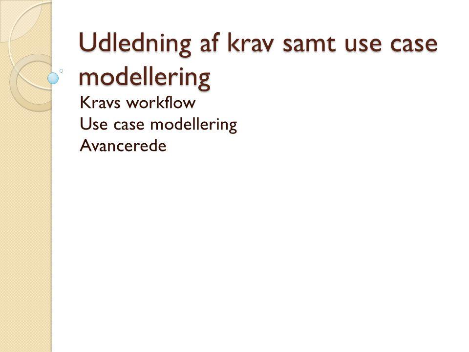 Udledning af krav samt use case modellering