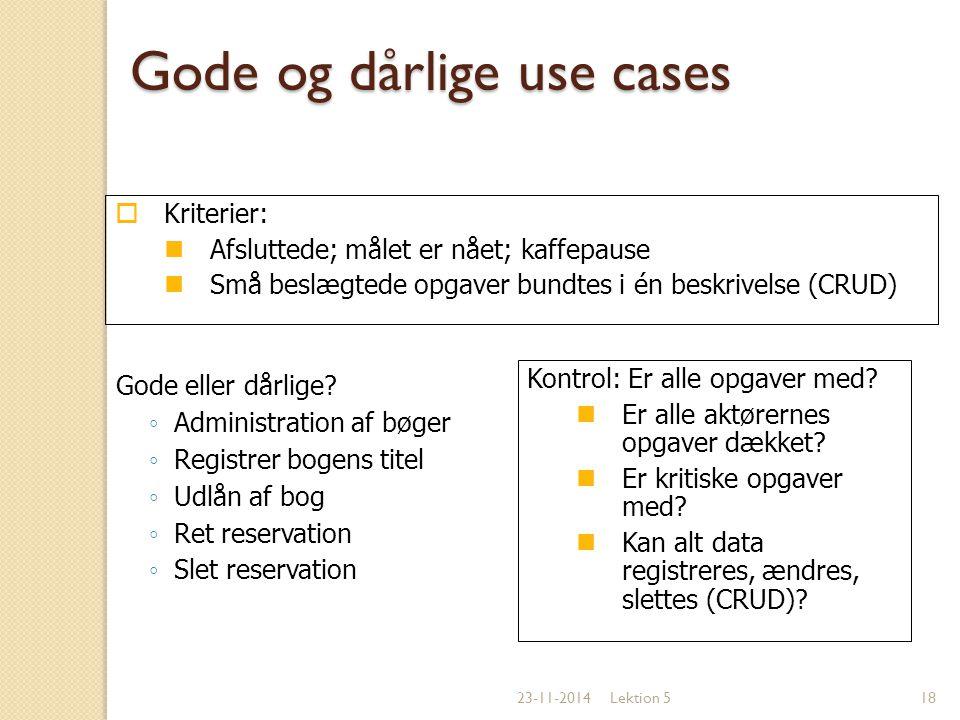 Gode og dårlige use cases