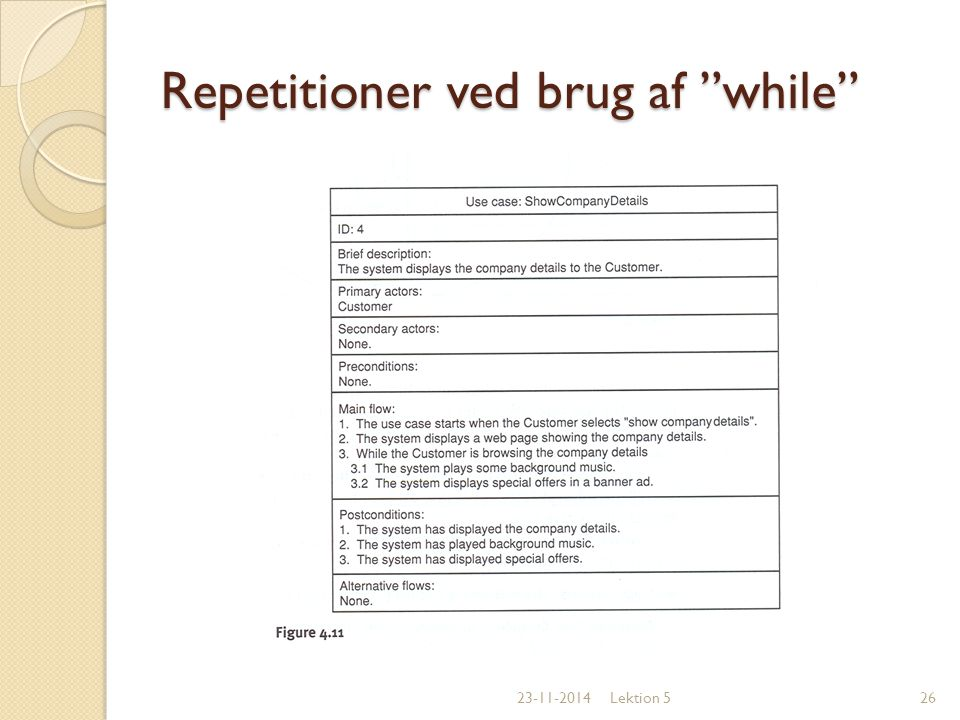 Repetitioner ved brug af while