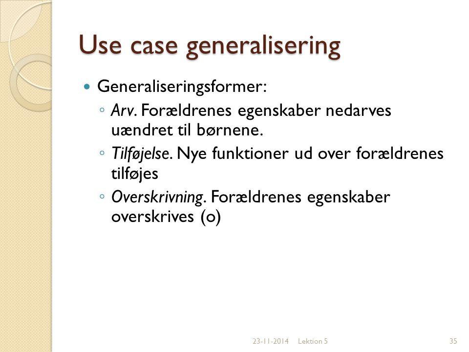 Use case generalisering