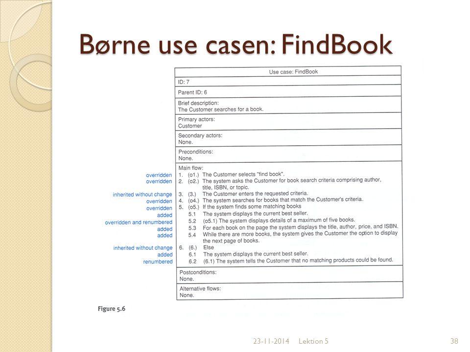 Børne use casen: FindBook
