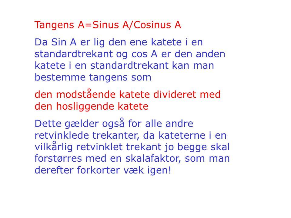Tangens A=Sinus A/Cosinus A