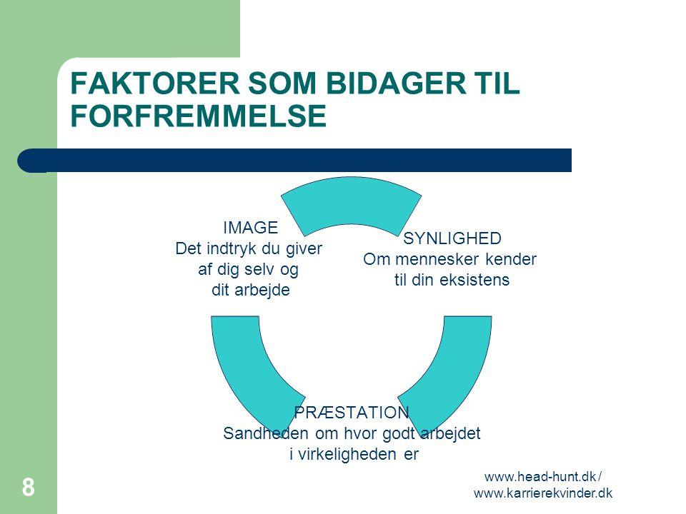 FAKTORER SOM BIDAGER TIL FORFREMMELSE