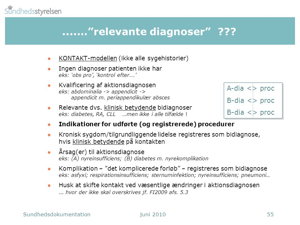 ....… relevante diagnoser