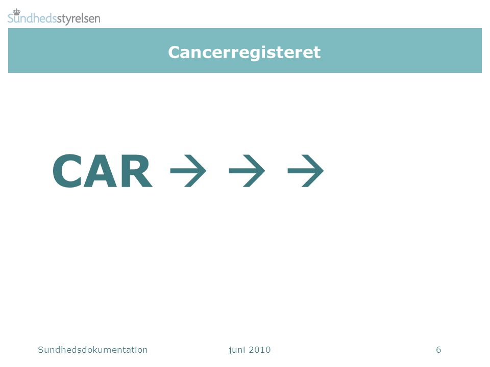 Cancerregisteret CAR   