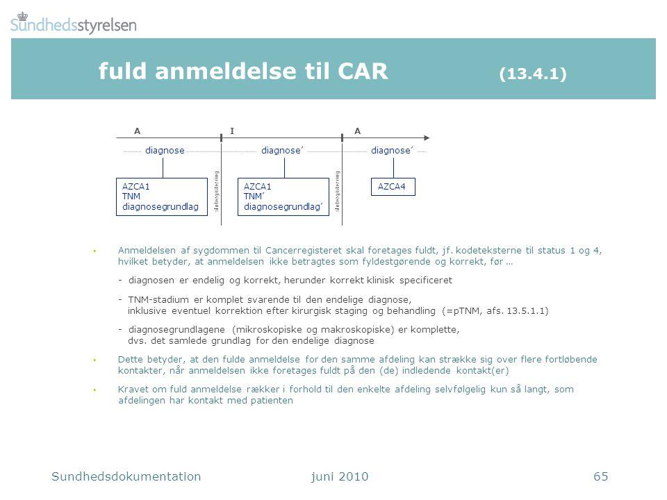 fuld anmeldelse til CAR (13.4.1)