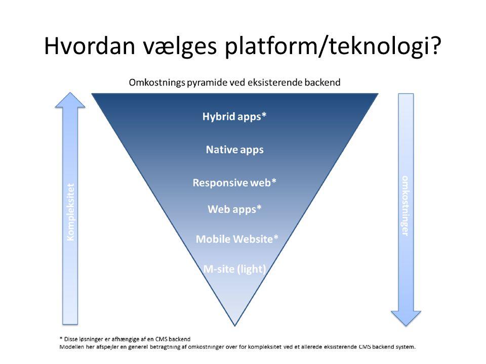 Hvordan vælges platform/teknologi