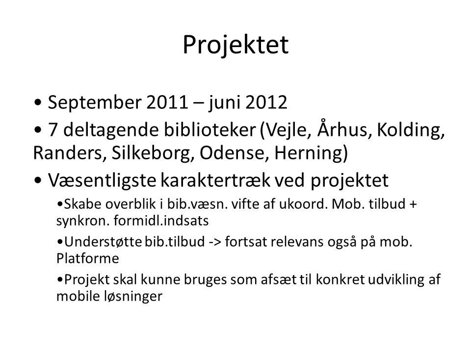 Projektet September 2011 – juni 2012