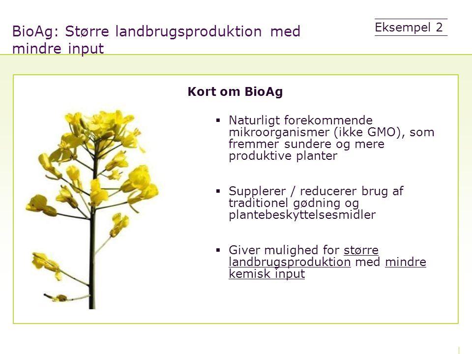 BioAg: Større landbrugsproduktion med mindre input