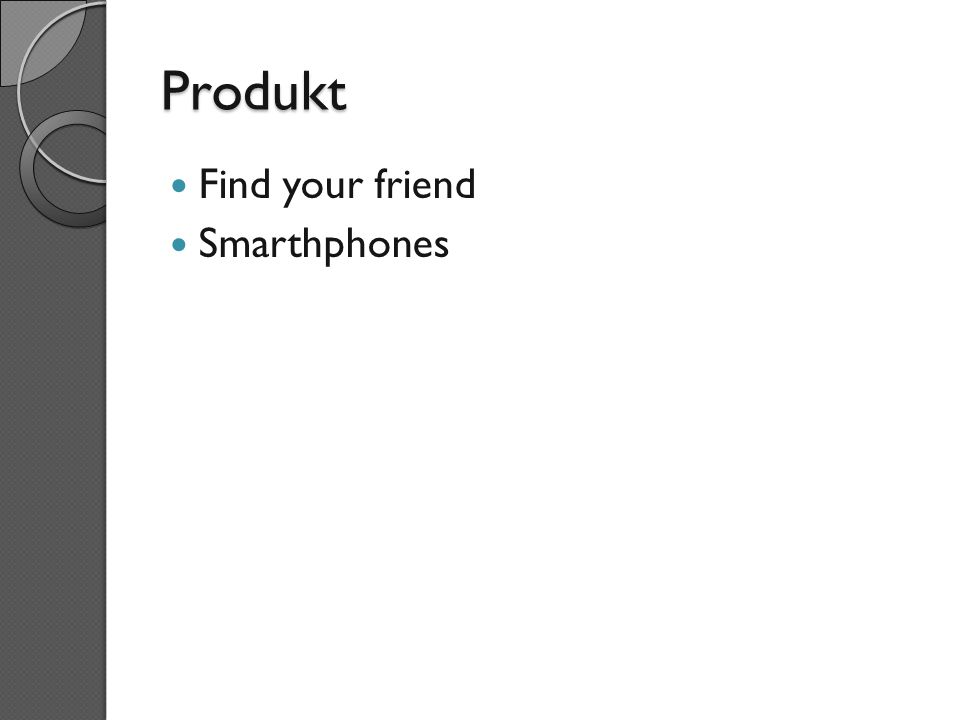 Produkt Find your friend Smarthphones