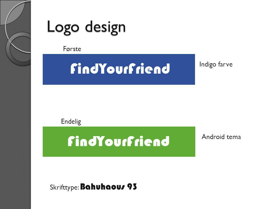 Logo design Første Indigo farve Endelig Android tema