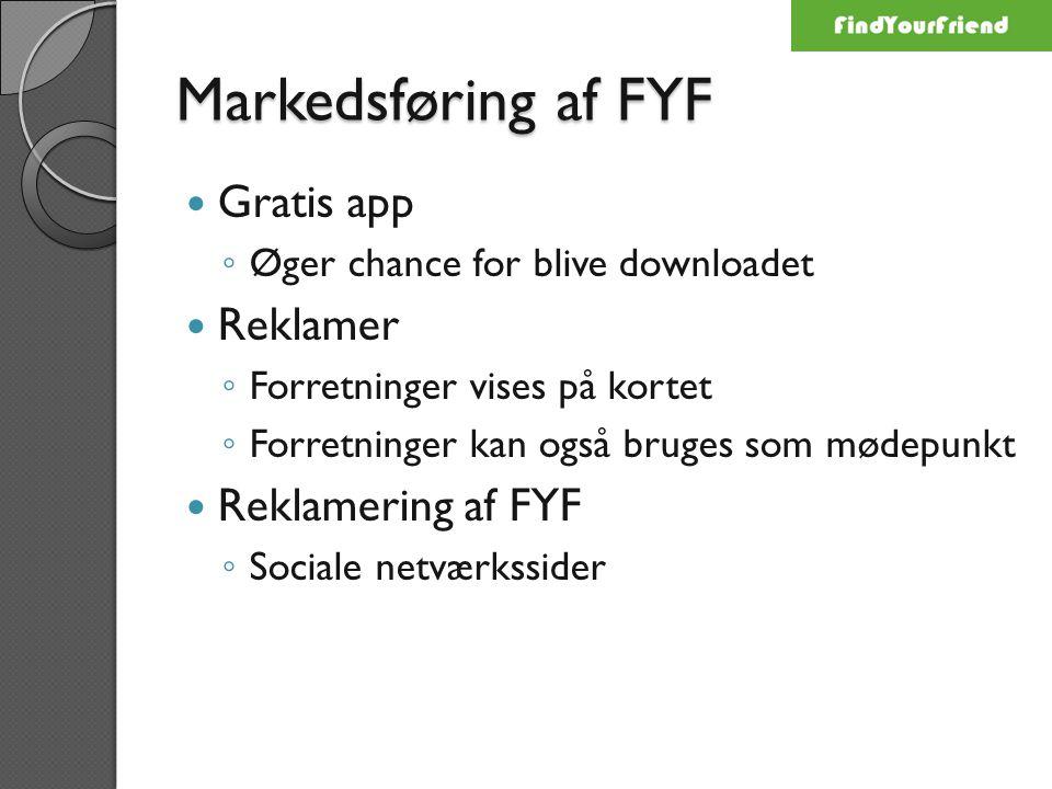 Markedsføring af FYF Gratis app Reklamer Reklamering af FYF