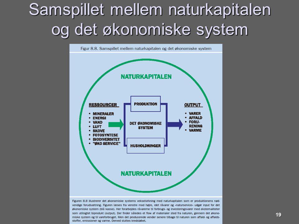 Samspillet mellem naturkapitalen og det økonomiske system
