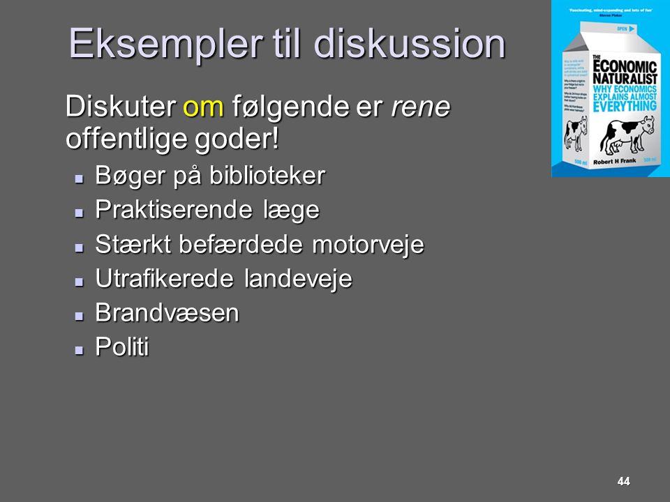 Eksempler til diskussion