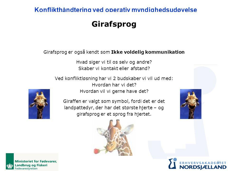 Girafsprog Girafsprog er også kendt som Ikke voldelig kommunikation
