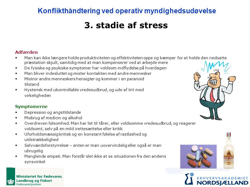 3. stadie af stress Adfærden Symptomerne