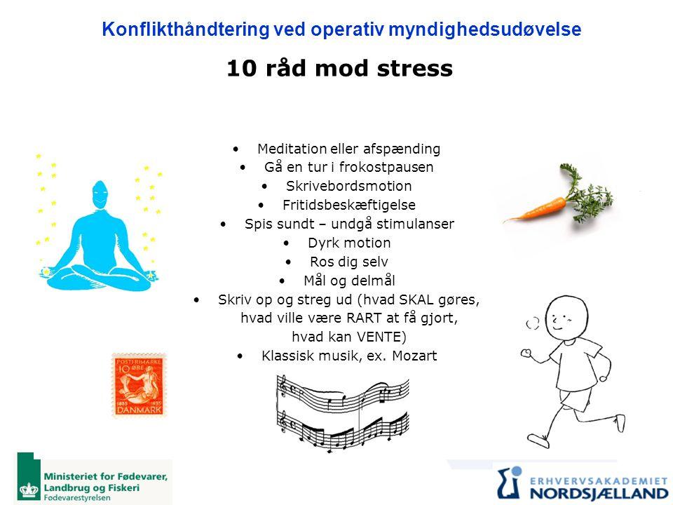 10 råd mod stress Meditation eller afspænding