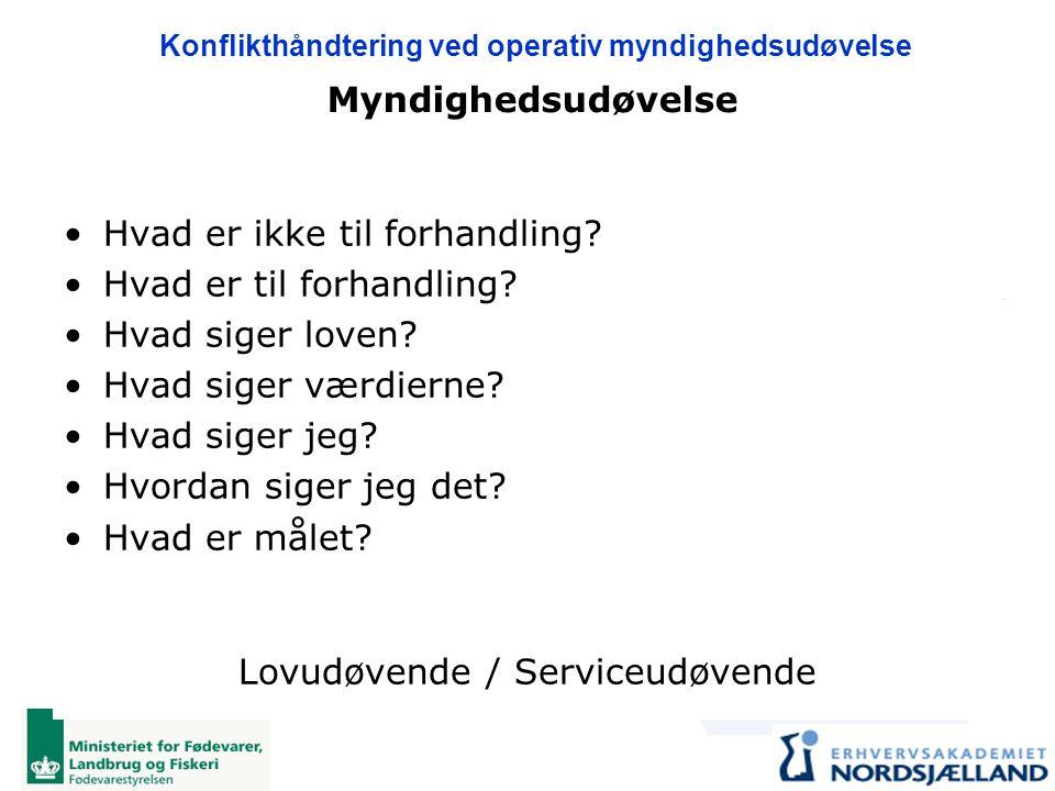 Lovudøvende / Serviceudøvende