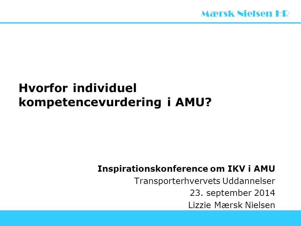Hvorfor individuel kompetencevurdering i AMU