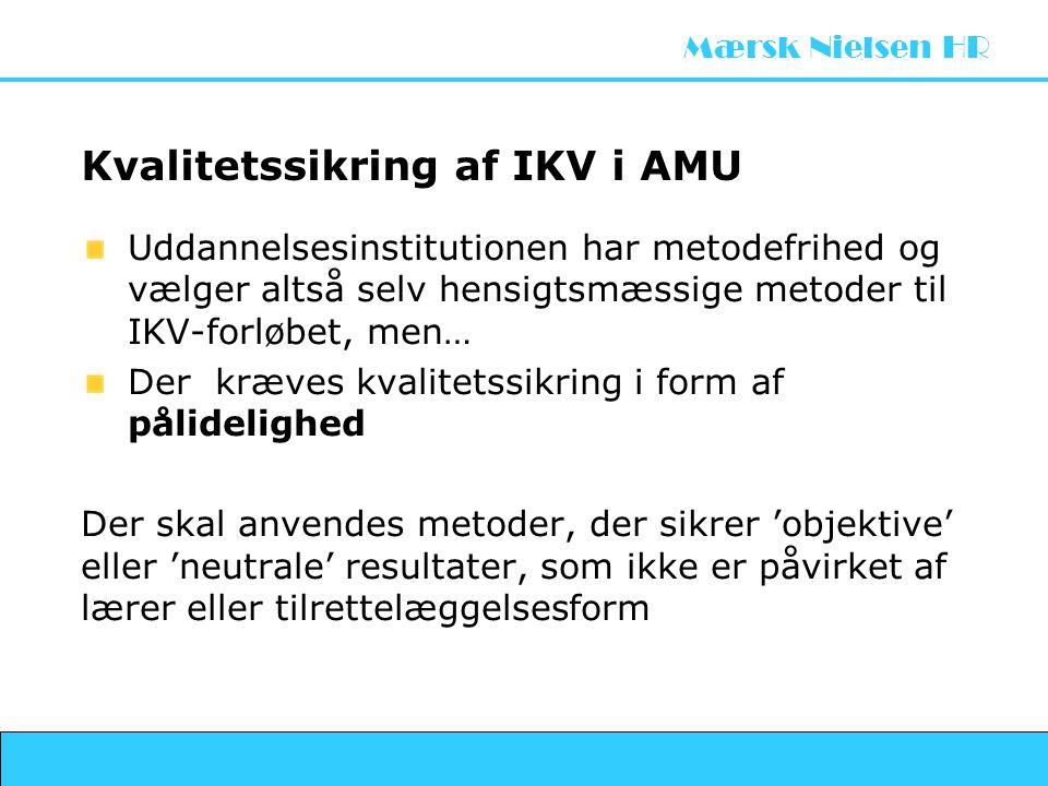 Kvalitetssikring af IKV i AMU