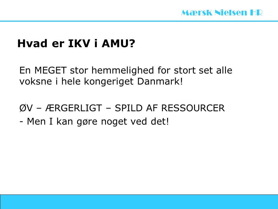 Hvad er IKV i AMU En MEGET stor hemmelighed for stort set alle voksne i hele kongeriget Danmark! ØV – ÆRGERLIGT – SPILD AF RESSOURCER.