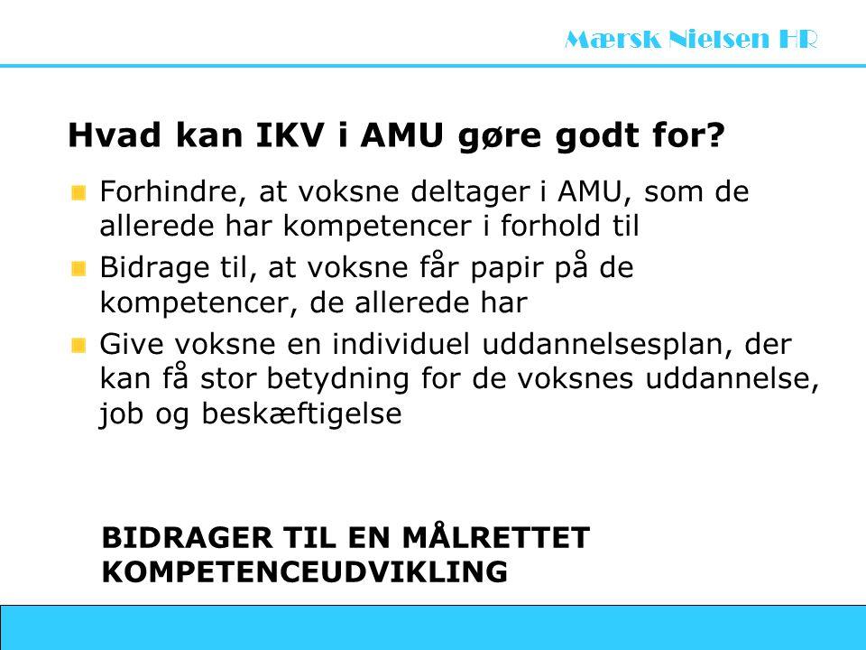 Hvad kan IKV i AMU gøre godt for