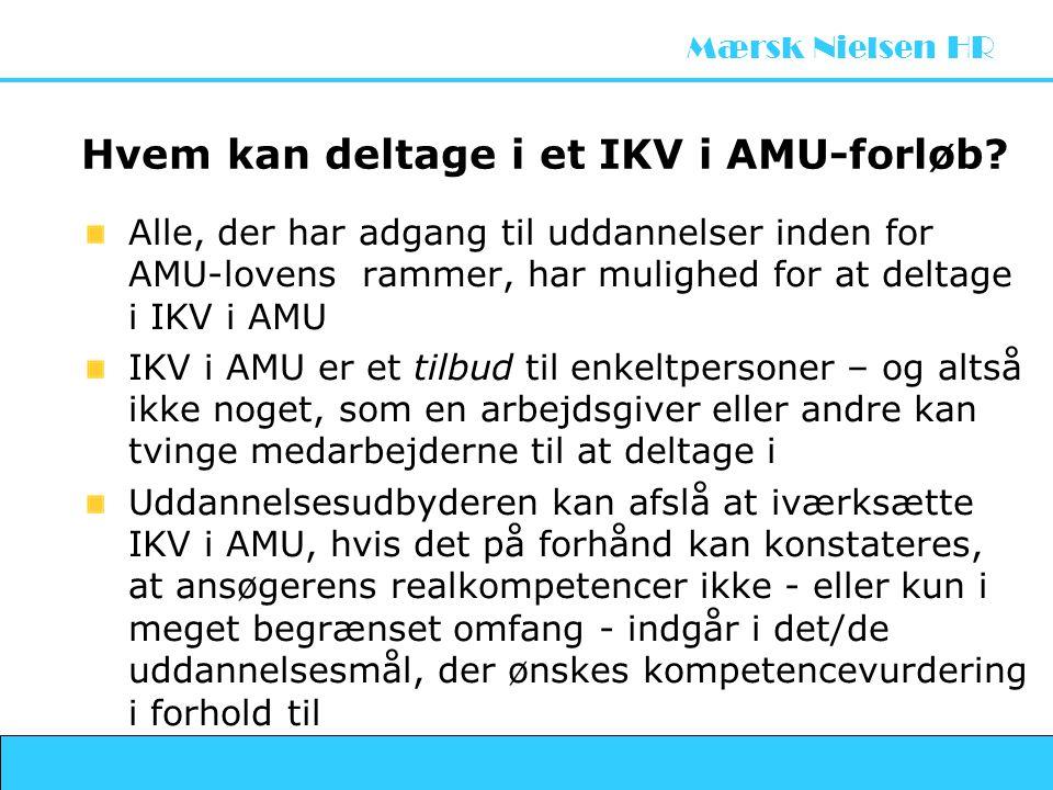 Hvem kan deltage i et IKV i AMU-forløb