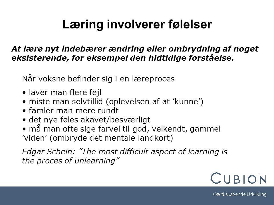Læring involverer følelser