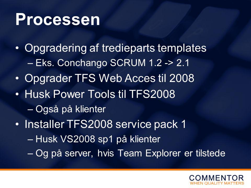 Processen Opgradering af tredieparts templates