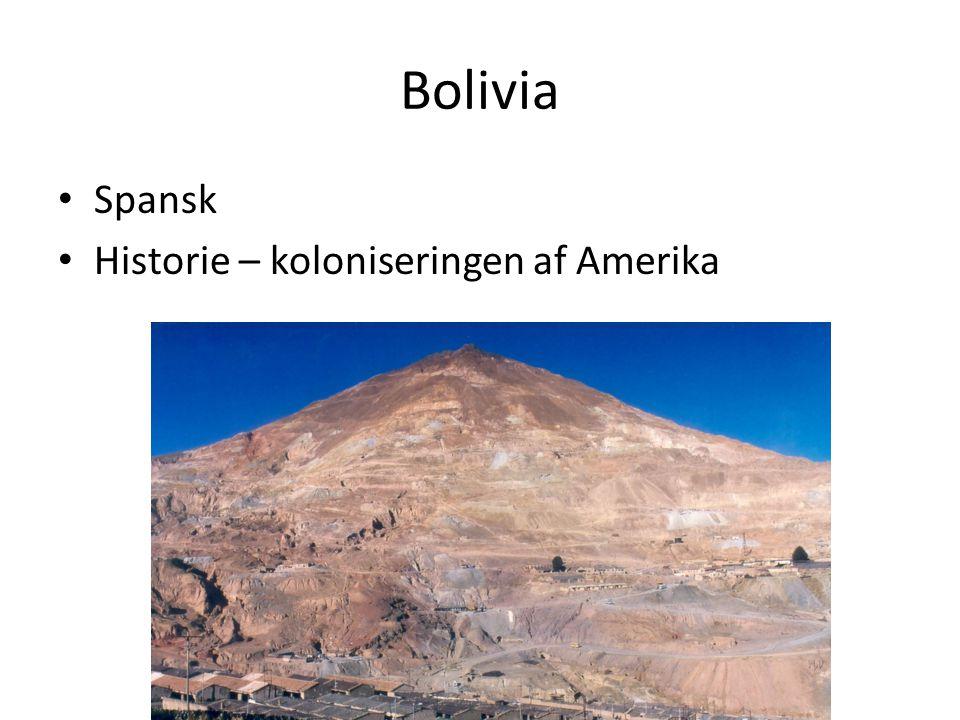 Bolivia Spansk Historie – koloniseringen af Amerika