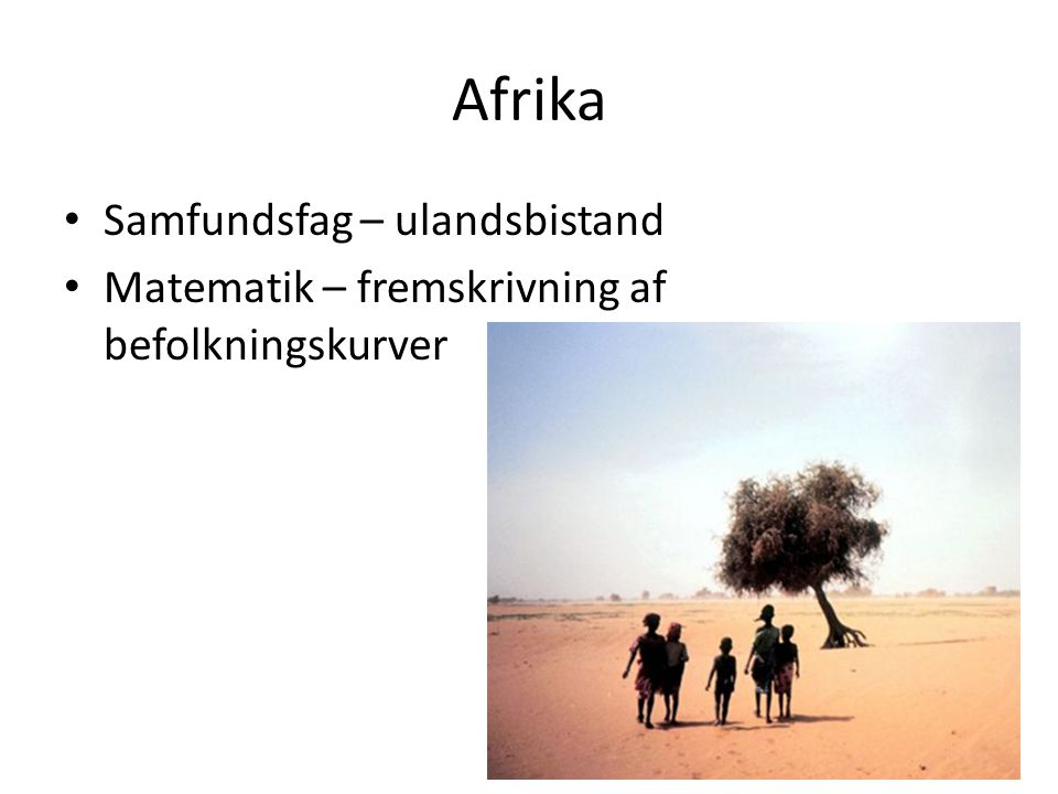 Afrika Samfundsfag – ulandsbistand