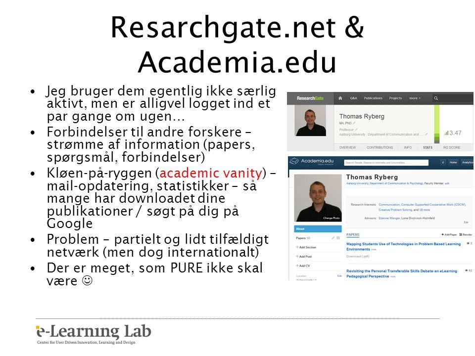 Resarchgate.net & Academia.edu