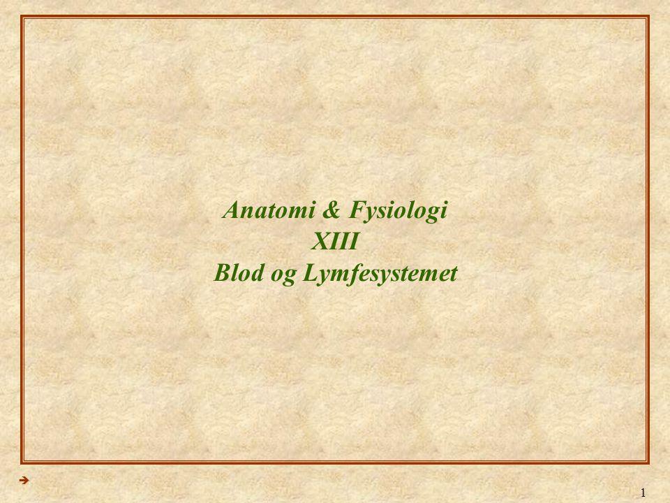 Anatomi & Fysiologi XIII Blod og Lymfesystemet