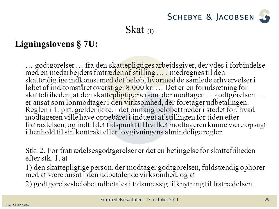 Fratrædelsesaftaler Gå-hjemmøde 13. oktober ppt download