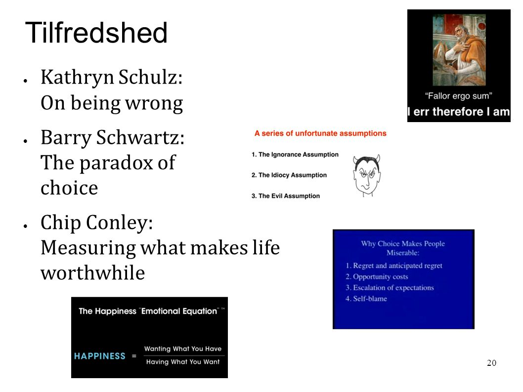 Tilfredshed Kathryn Schulz: On being wrong