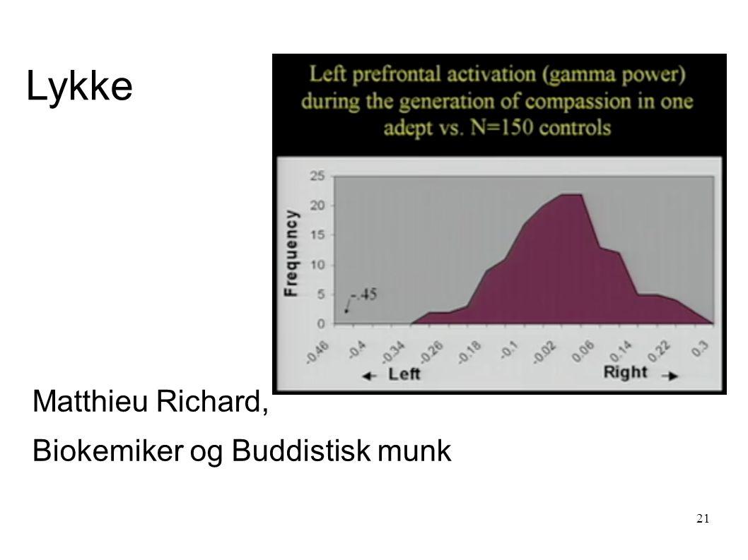 Lykke Matthieu Richard, Biokemiker og Buddistisk munk