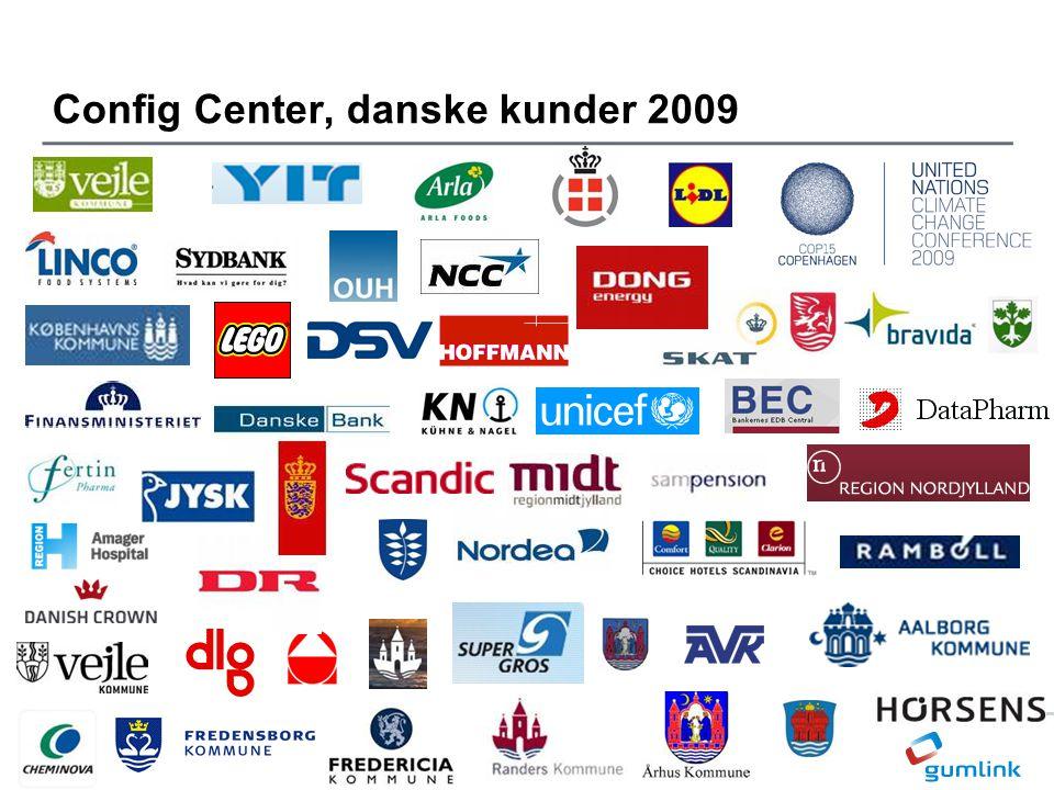 Config Center, danske kunder 2009