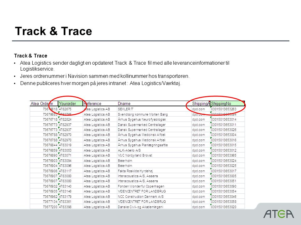 Track & Trace Track & Trace
