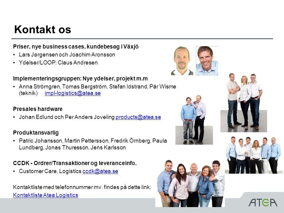 Kontakt os Priser, nye business cases, kundebesøg i Växjö