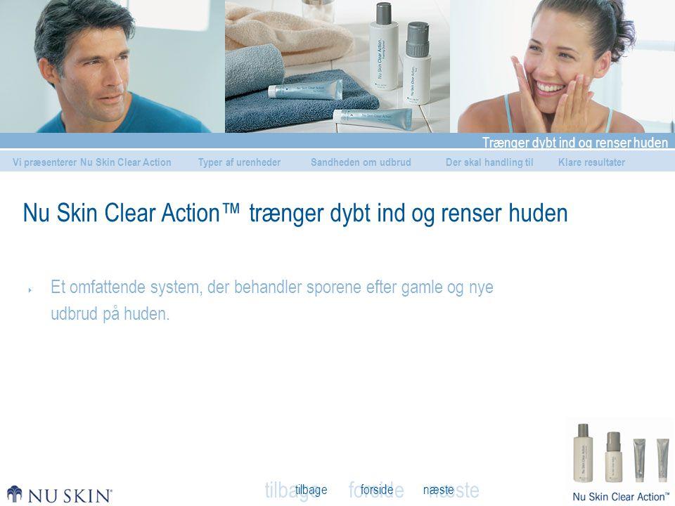 Nu Skin Clear Action™ trænger dybt ind og renser huden