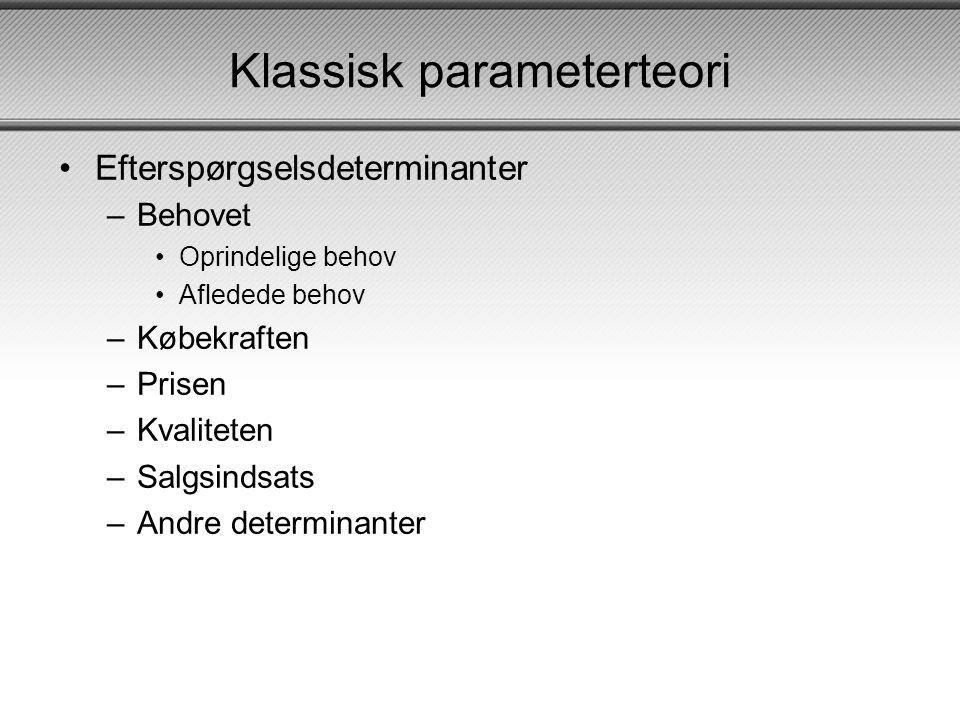 Klassisk parameterteori