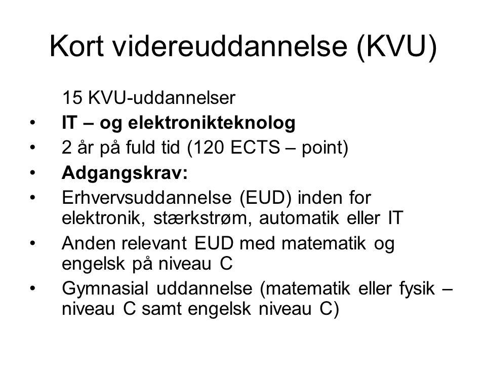Kort videreuddannelse (KVU)